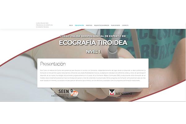 Curso online semipresencial de experto en ecografía tiroidea